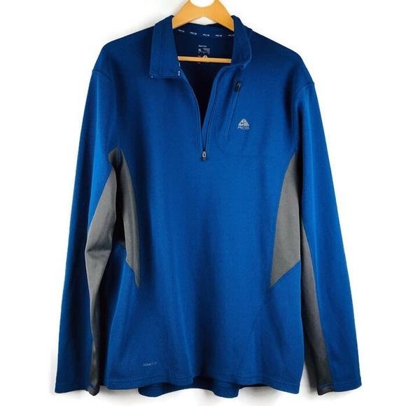 f3693f750 Nike ACG Jackets & Coats | Blue 14 Zip Pullover Jacket | Poshmark